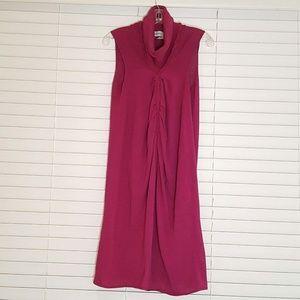 Yves Saint Laurent Purple Knitted drape Dress M